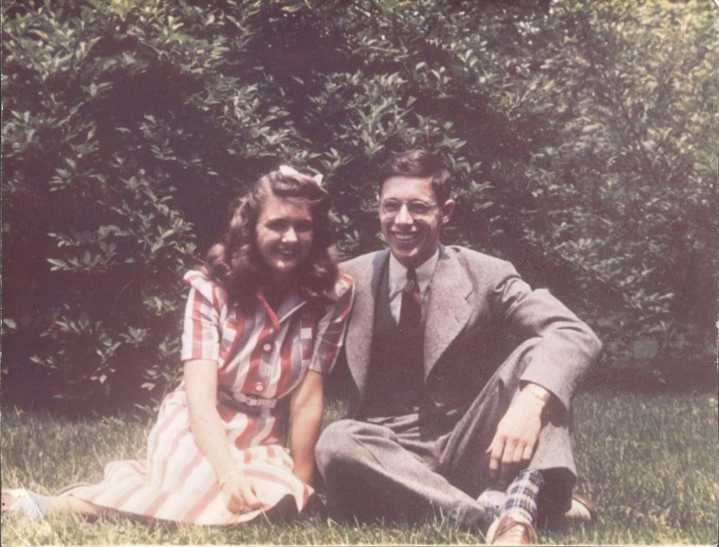 Mom & Dad at Oberlin 1942 copy